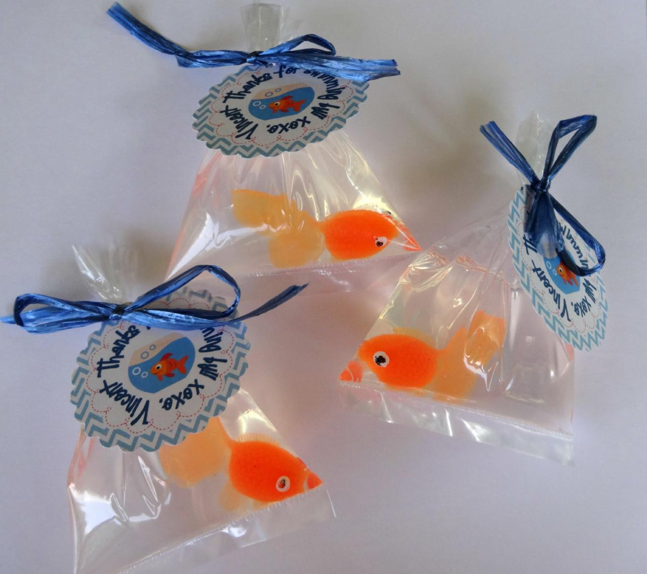 10 Goldfish In A Bag Soap Party Favor Carnival Theme Elmo