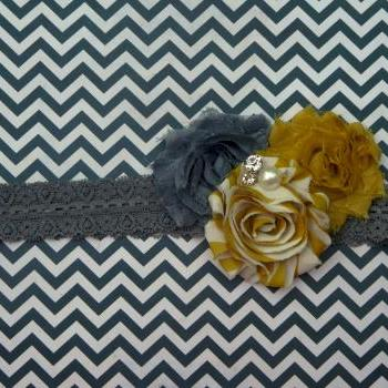 Shabby Flower Stretch Headband